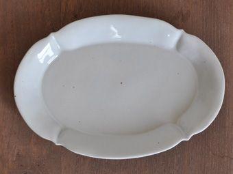 林健二 白だ円皿