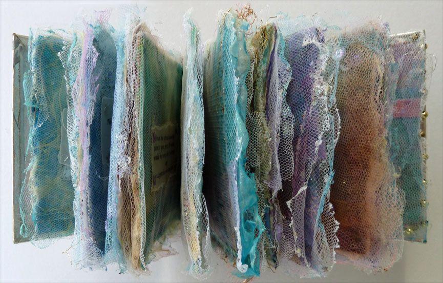 """Colour Whispers"" book of quotations / Book measures 10cmx10cm (4""x4"") / by Joy Bathie / http://www.pinterest.com/joybathie/my-own-arty-stuff"
