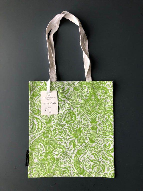 Tote bag. William Morris 'Indian' design. Book bag. Reusable shopper. Screenprinted.  100% Cotton. #woodentotebag