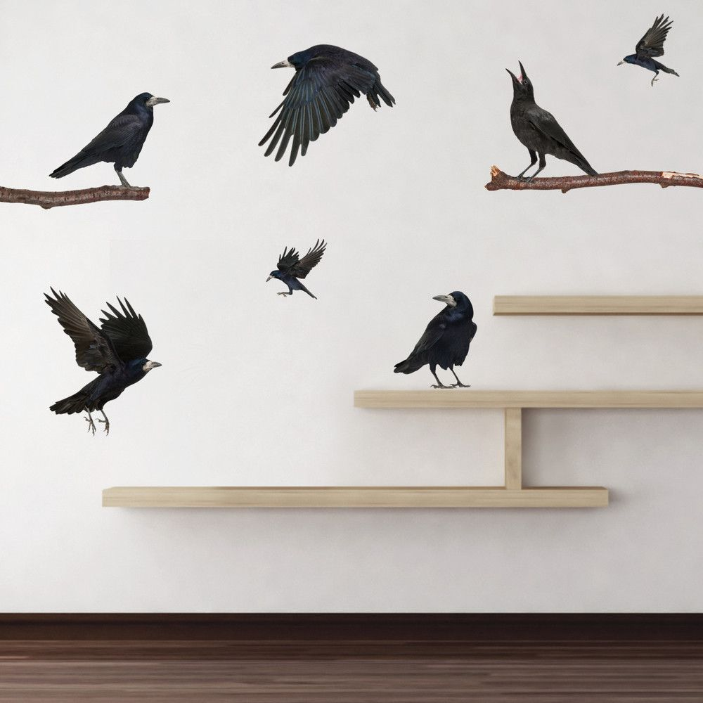 Realistic Ravens Wall Decals | Raven bird, Ravens and Wall decals