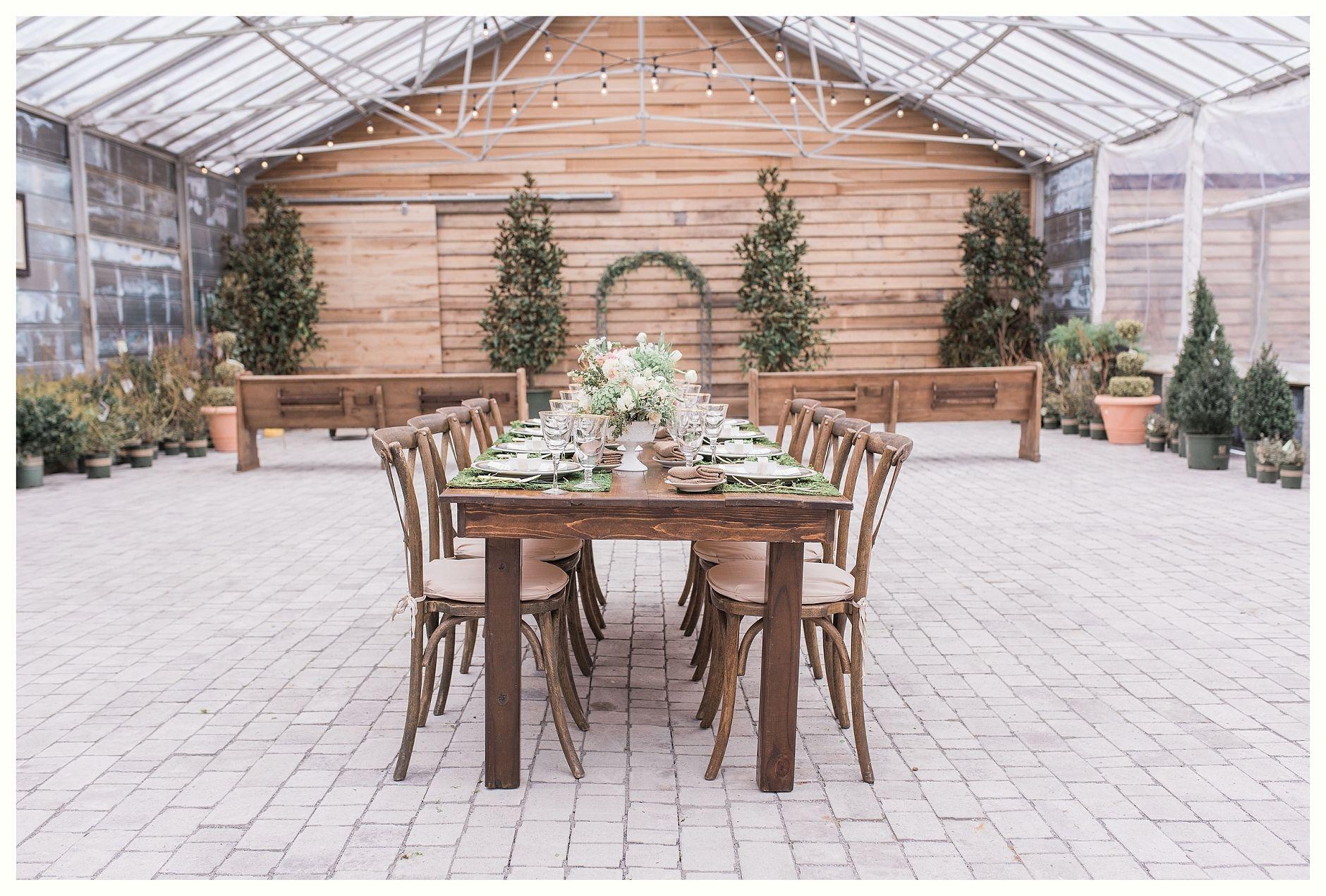 Earthy Elegance Greenhouse Wedding Long Hollow Gardens Gallatin Tn