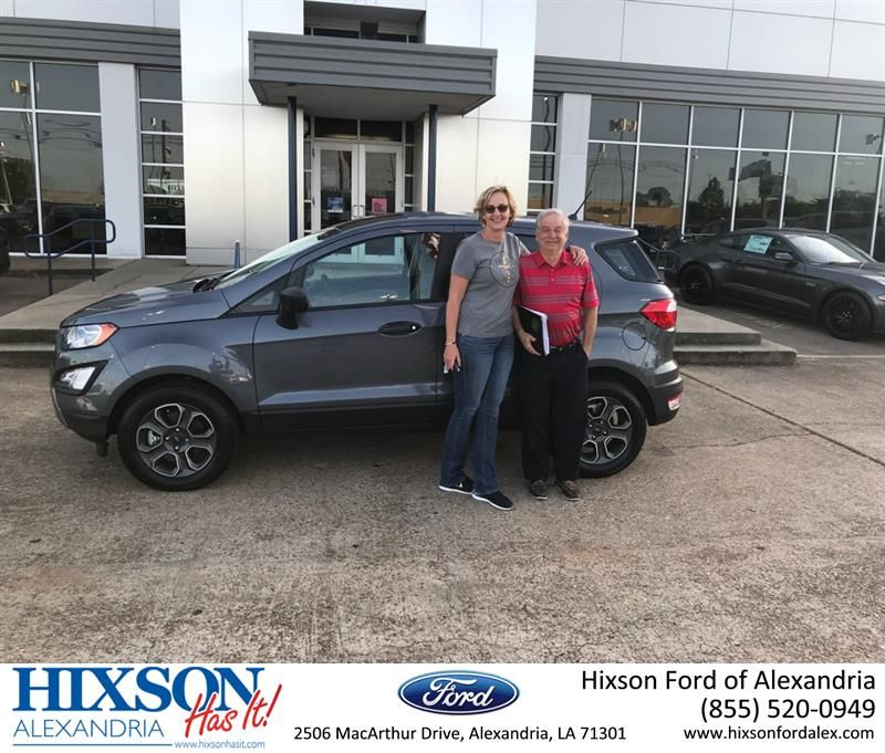 Happy Anniversary To Gerry On Your Ford Ecosport From Tonia
