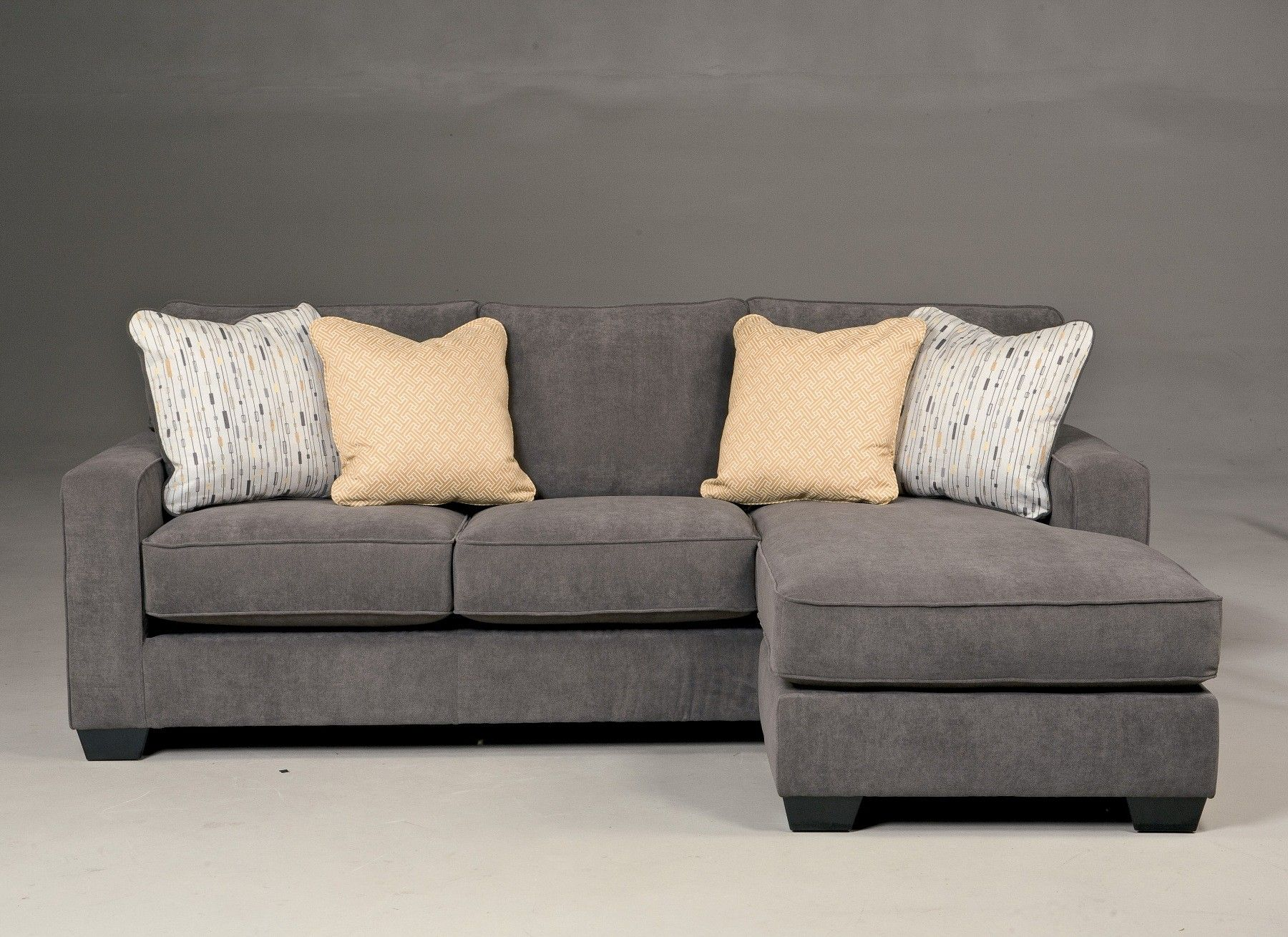719 ashley hodan marble sofa with chaise good fabric for Ashley sofa with chaise