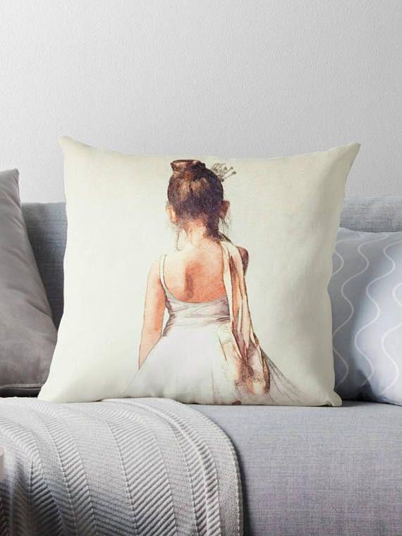 #GiftforDancer #BallerinaPillow #Sweetballerina Sweet Ballerina Pillow Dance Pillow Cover Decorative Pillow