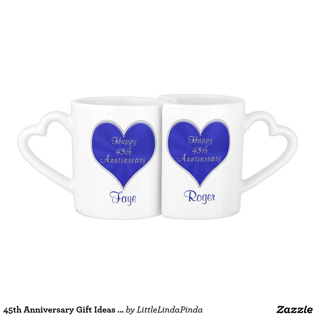 45th anniversary gift ideas with names and date coffee mug