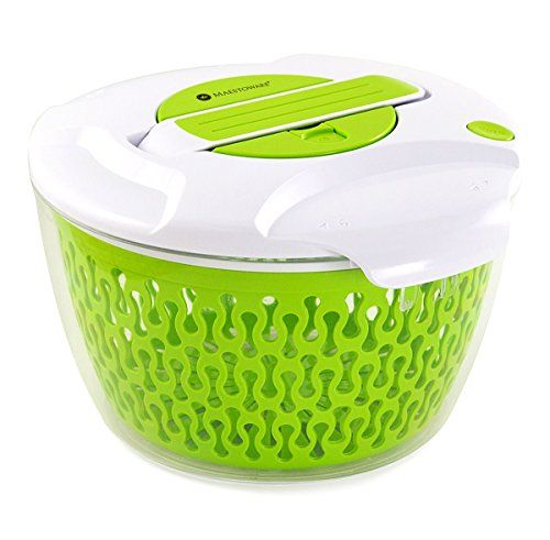 Maestoware Salad Spinner Large 68 Quart Dry Off Drain Lettuce And Vegetable With Ease For Tastier Salads And Faster Food Salad Spinner Delicious Salads Salad