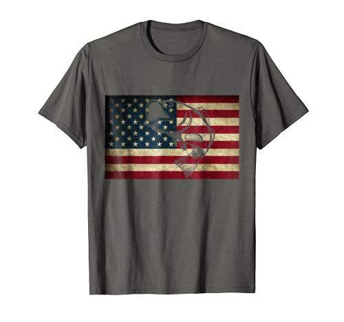 Download Fishing American Flag Patriotic T-Shirt Funny Fisherman G ...