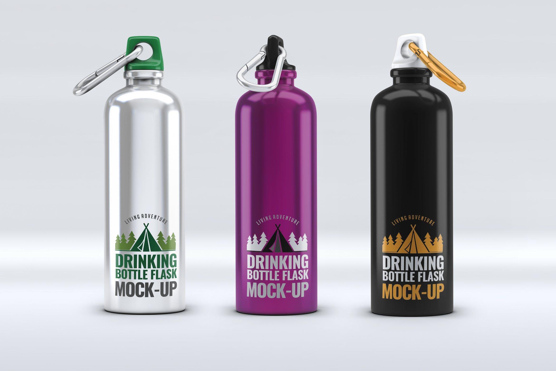 Drinking Bottle Flask Mock Up By L5design On Envato Elements Bottle Mockup Bottle Drink Bottles