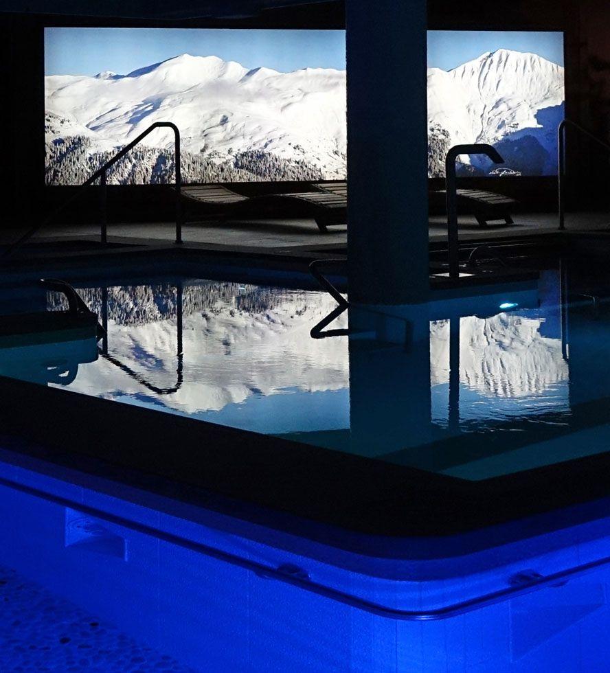 #SPA #piscine #Courchevel #bienetre #detente #Courchevel #jacuzzi #montagne #Chabichou #Carita #Decleor Crédit photo Noël Pelegrin