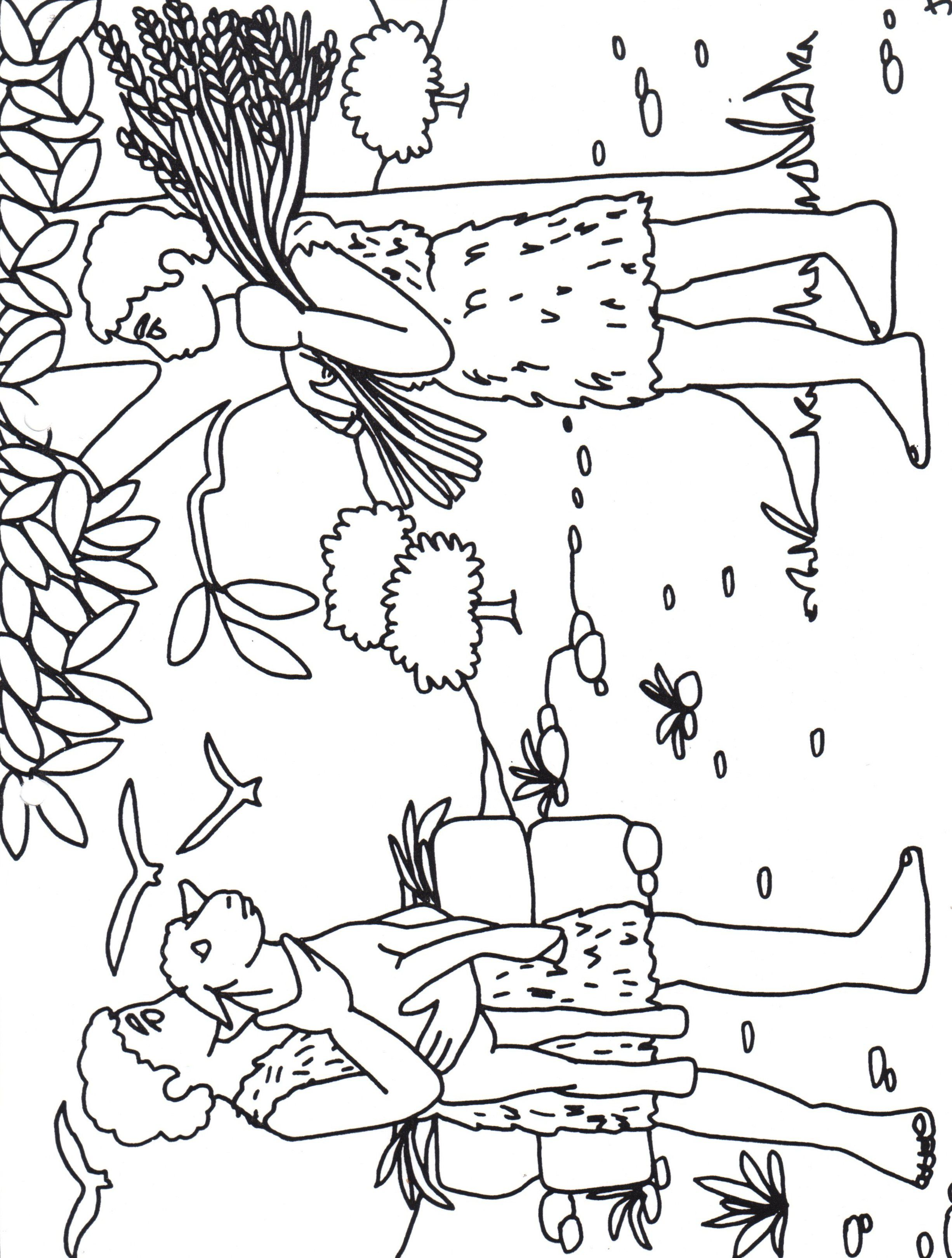 Coloring pages for jonathan and david - Ca N Y Abel Para Colorear
