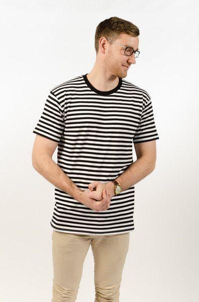 Staple Stripe Tee - Black/White - BAAM Labs - 1