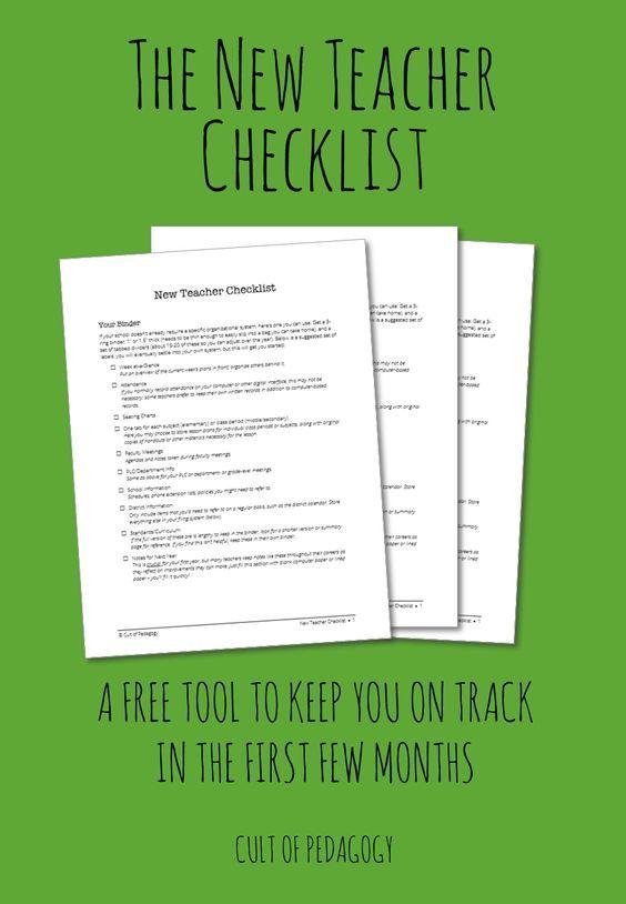 Classroom Design Checklist ~ The new teacher checklist and