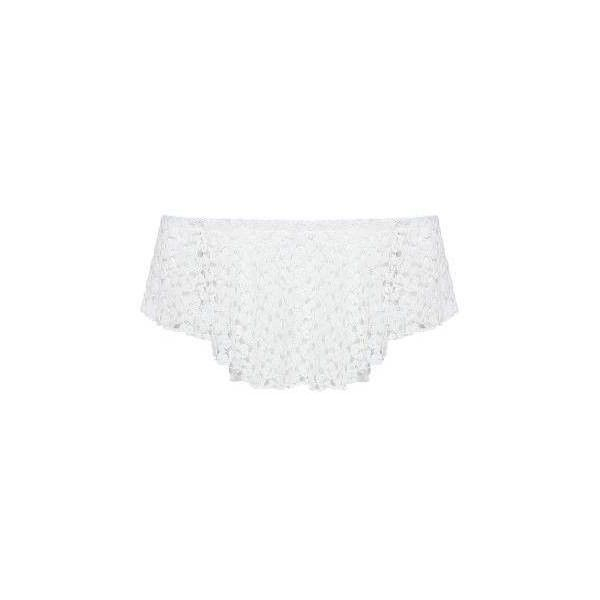 a8a6e5fe64 White Off Shoulder Lace Crop Top ( 25) ❤ liked on Polyvore featuring tops
