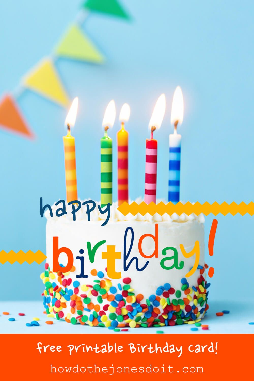 Happy Birthday Card Free Printable Free Birthday Card Happy Birthday Free Free Birthday Greetings