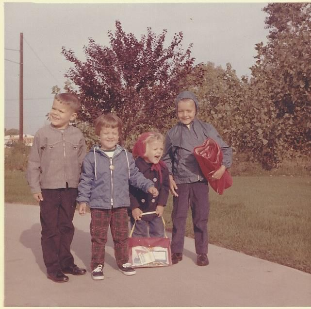 Another first day of school picture from 1964. I'm the guy on the far left. My sister Vicki is to my left.