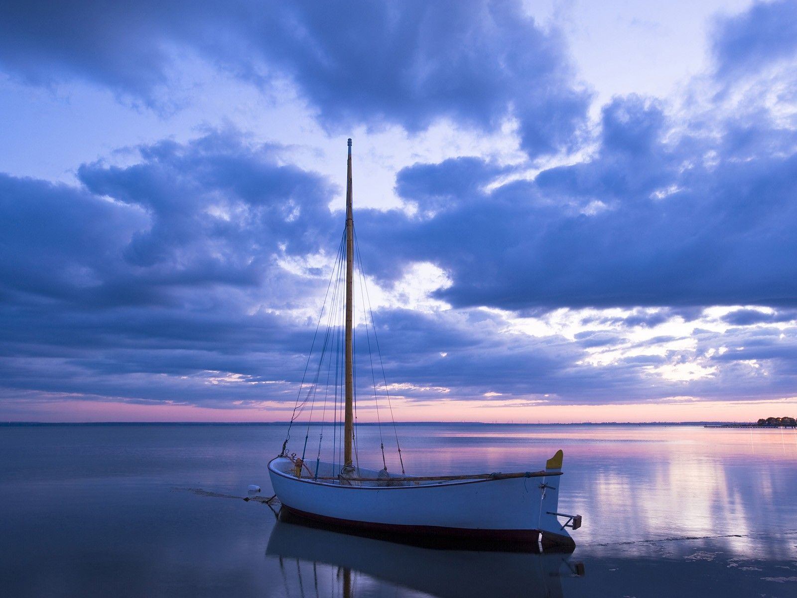 Image detail for blue sea and boat Wallpapers Land
