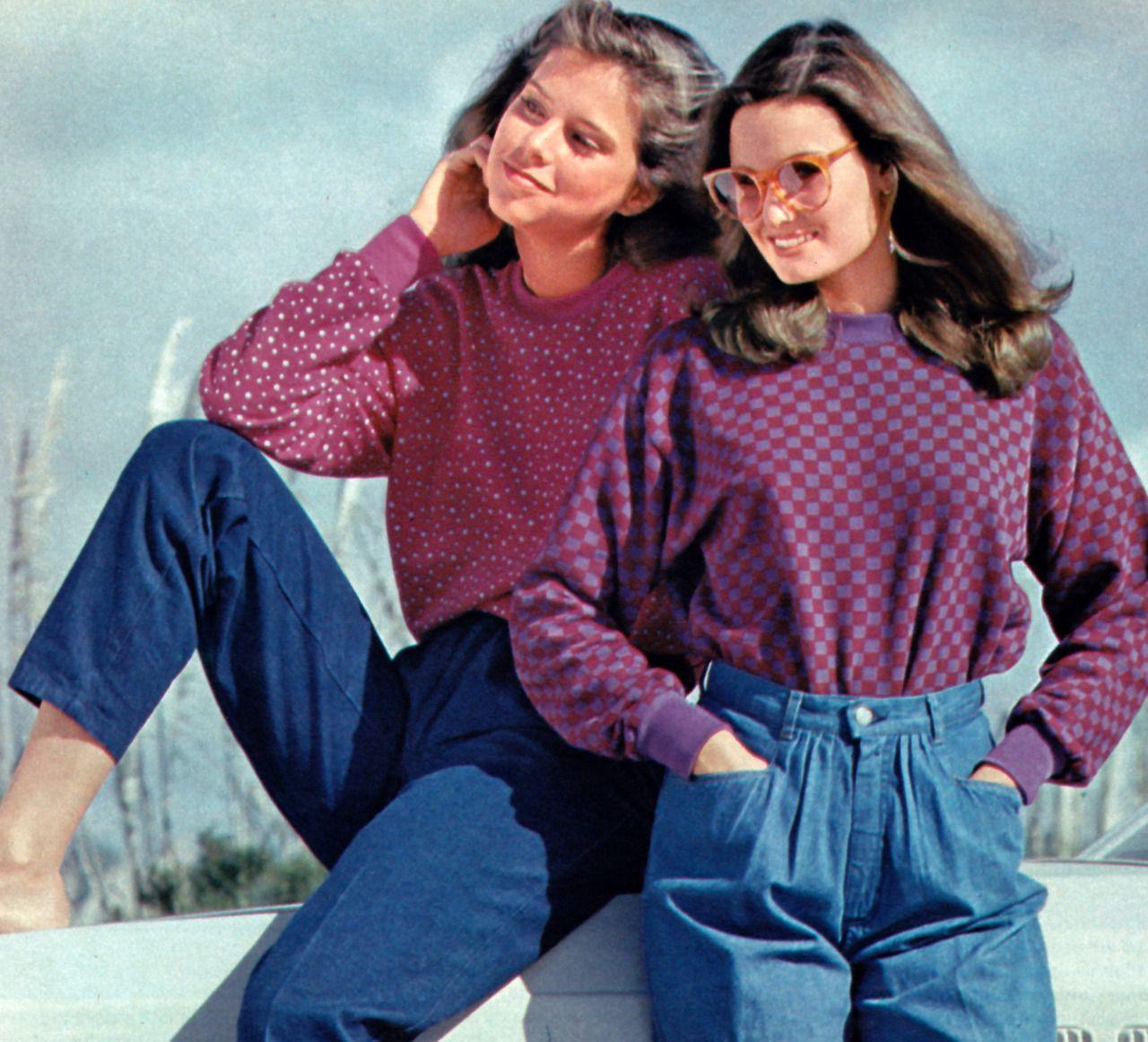 Мagazine Fashion 17 Only Sweet Girls: Cone Plushbottoms, Seventeen Magazine, April 1980.
