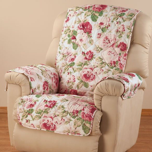 English Floral Microfiber Recliner Cover Shabby Chic Furniture Recliner Cover Shabby Chic Chairs