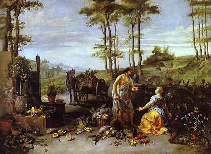 Jan Brueghel El Joven Noli Me Tangere 1630 Noli Me Tangere Museum Of Fine Arts Online Painting