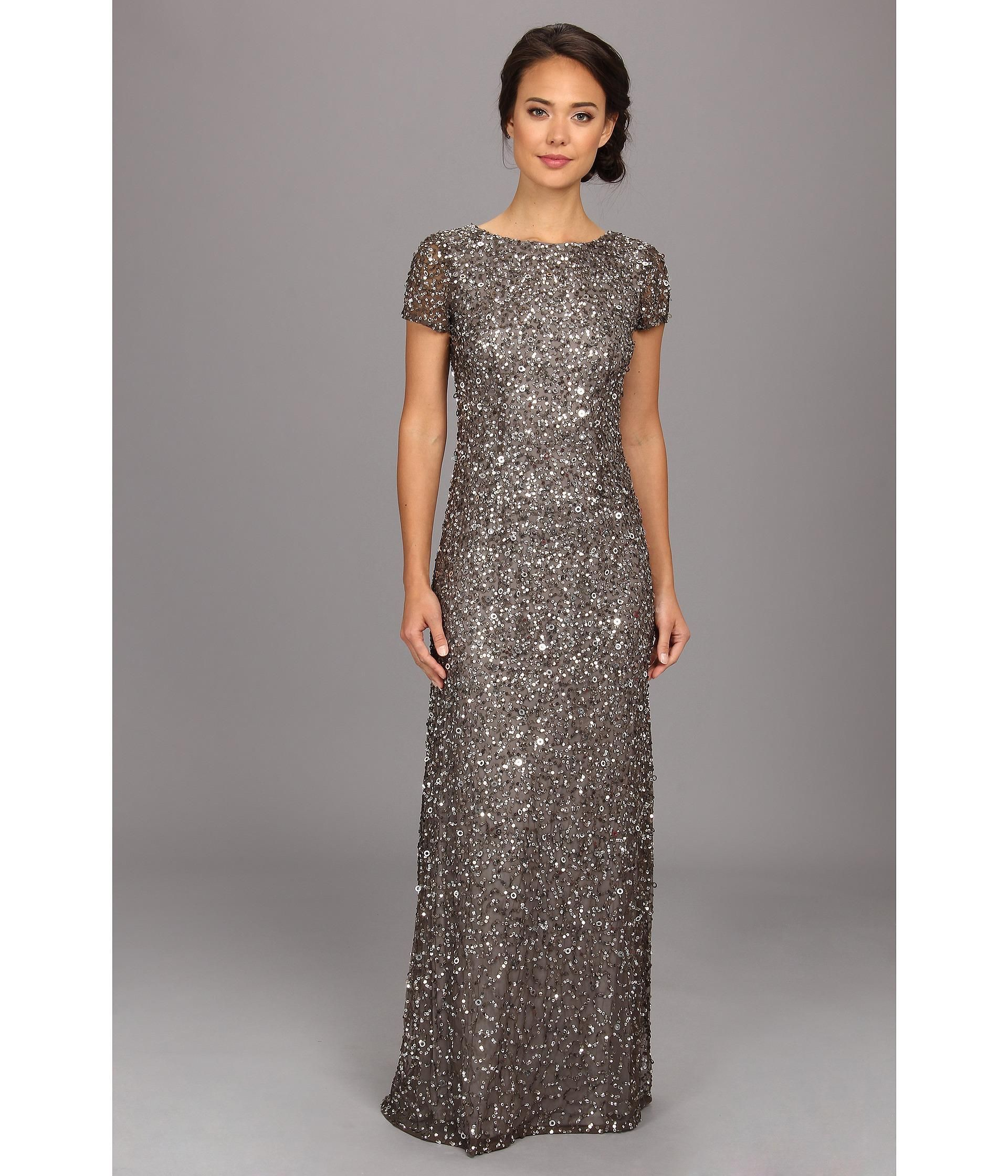 Be the belle of the ball in this striking adrianna papell gown