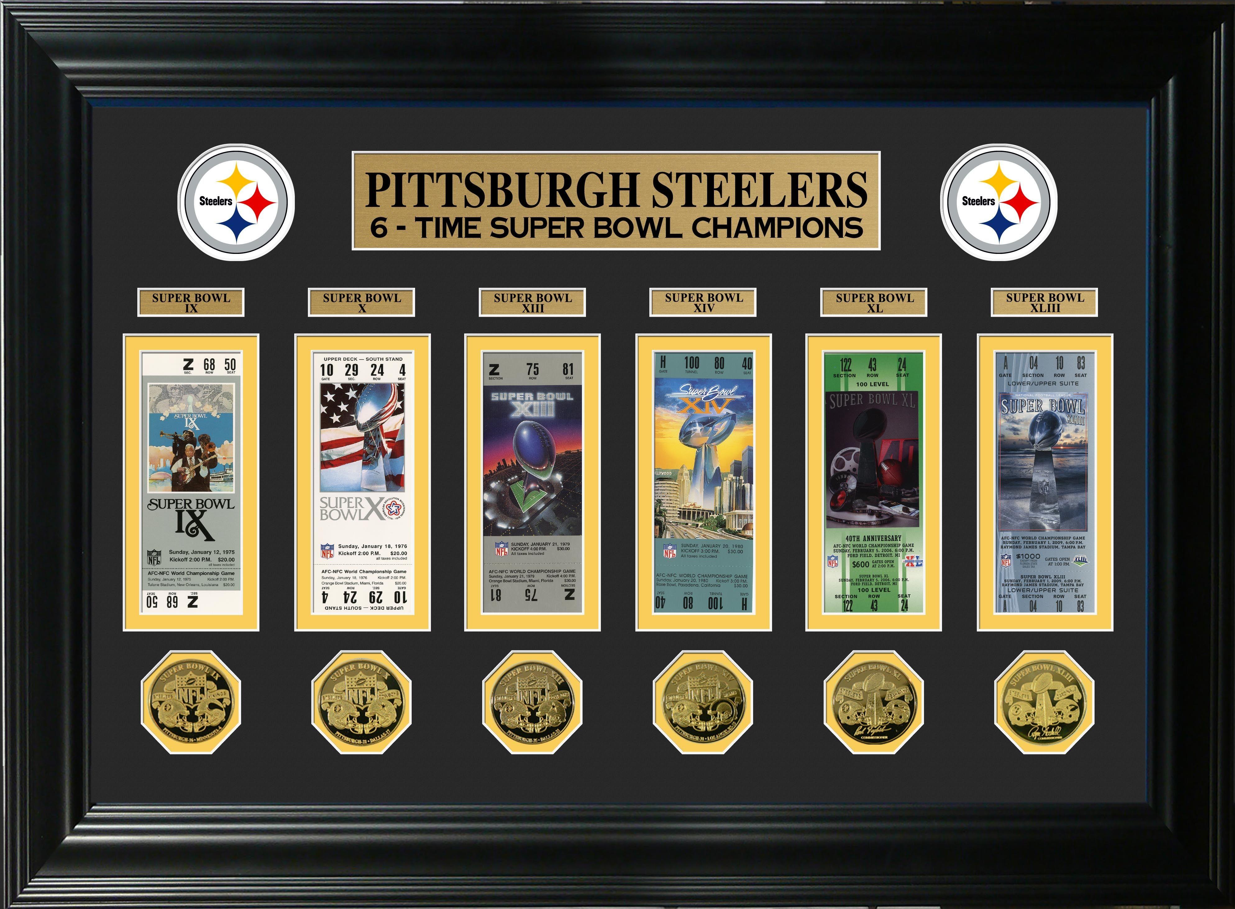 Superbowls Framed Steelers Super Bowl Commemorative