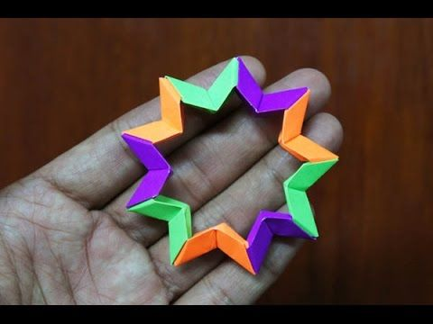 origami 9 pointed star