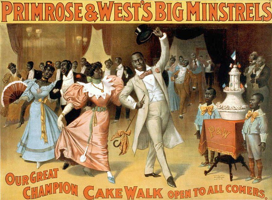 Representación de un concurso de baile de Cakewalk Black