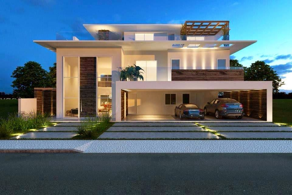 fachadas de casas modernas dos sonhos