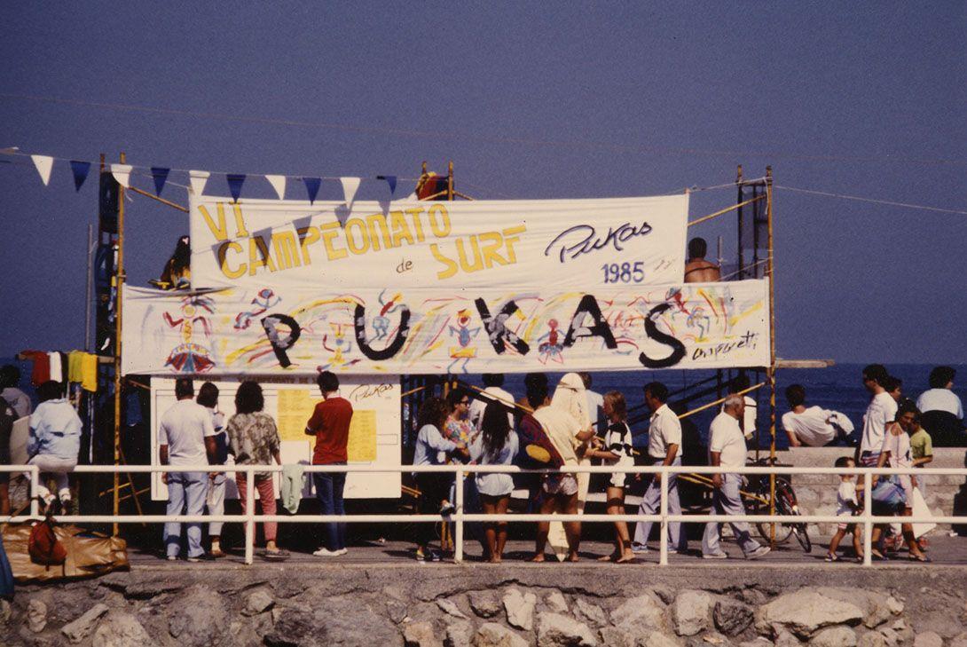 Pukas Surf VI Campeonato de Surf Pukas 1985 Muro de Gros