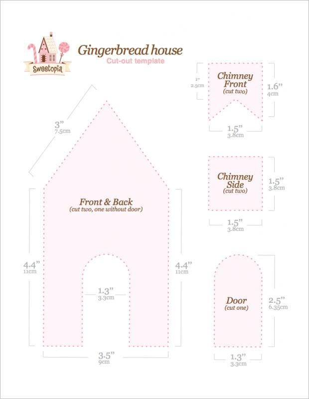 Free Printable Gingerbread House Template Gingerbread House Cookies Gingerbread House Template Gingerbread House Template Printable
