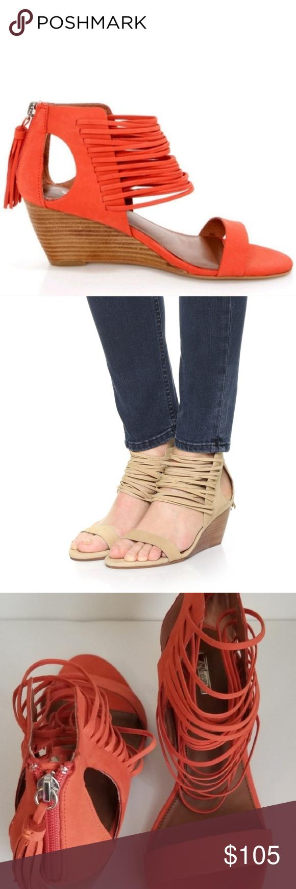 9738d48511c Matiko Bryn II Papaya Strappy Ankle Cuff Wedge For Lulu s