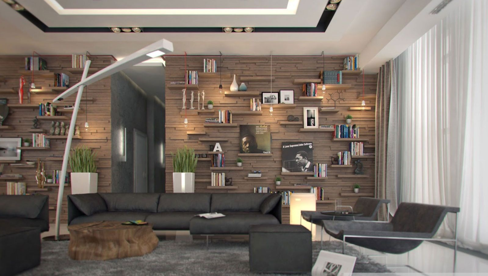 Decorations : Natural Wood Wall Panels And White Interior Color Idea  Inspiring Wood Wall Ideas For Modern And Stylish Home Wooden Wall Designs  Living Roomu201a ...