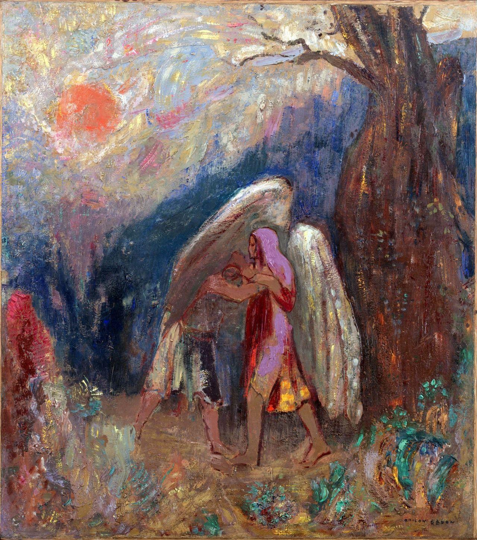 Jacob and the Angel Odilon Redon | Odilon redon, Redon, Art