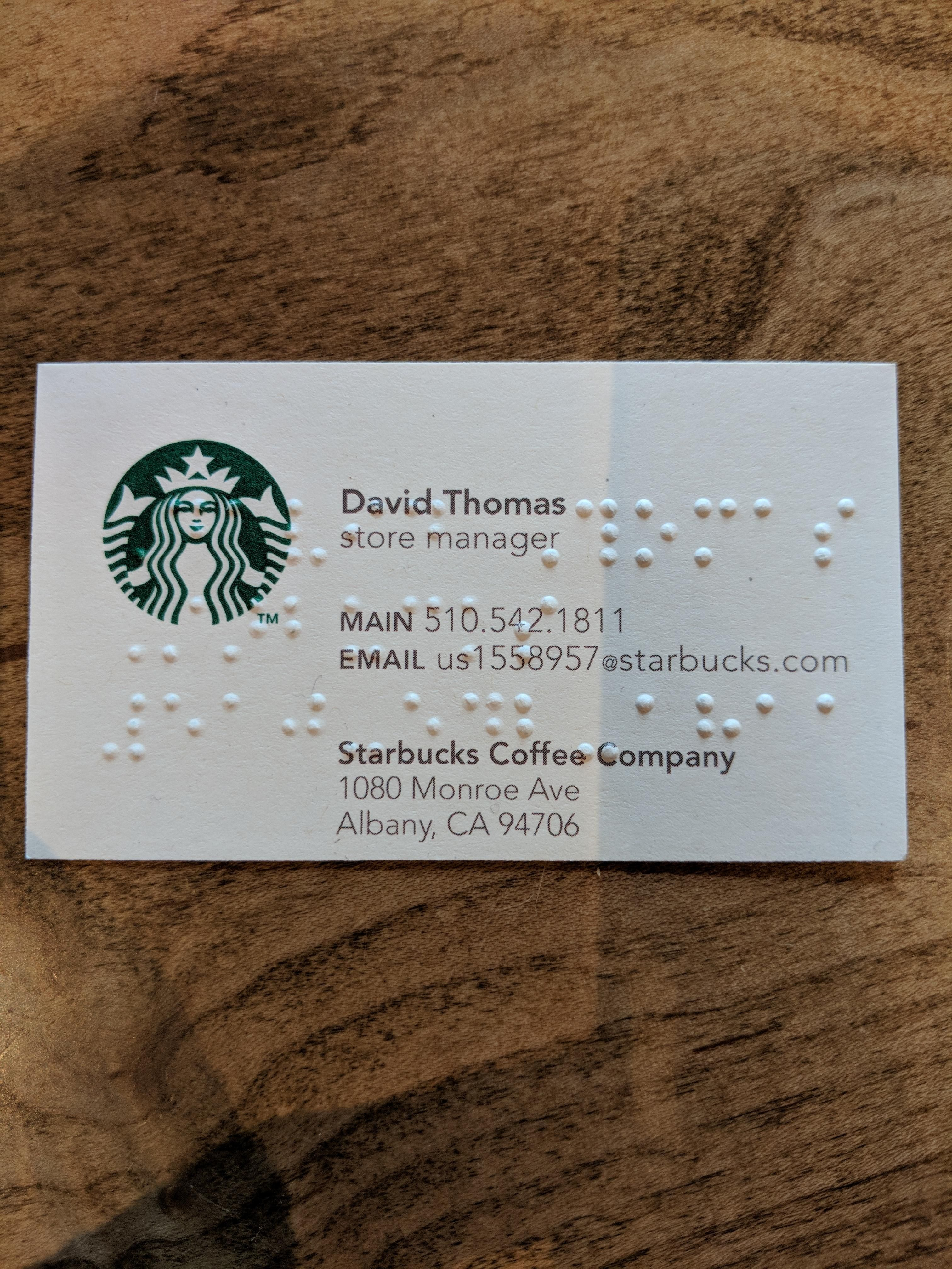 This Braille Business Card Business Cards Cards Braille