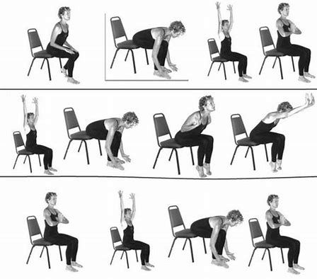 Image Result For Printable Senior Chair Yoga Poses Exercises