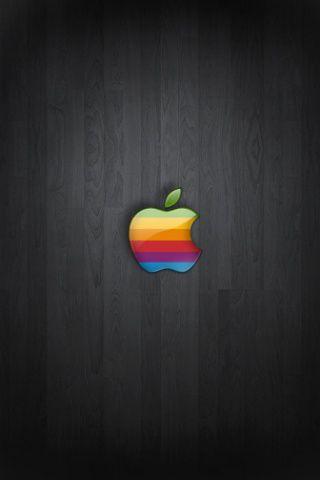 Madera oscura de apple iphone wallpaper apple en 2019 - Original apple logo wallpaper ...