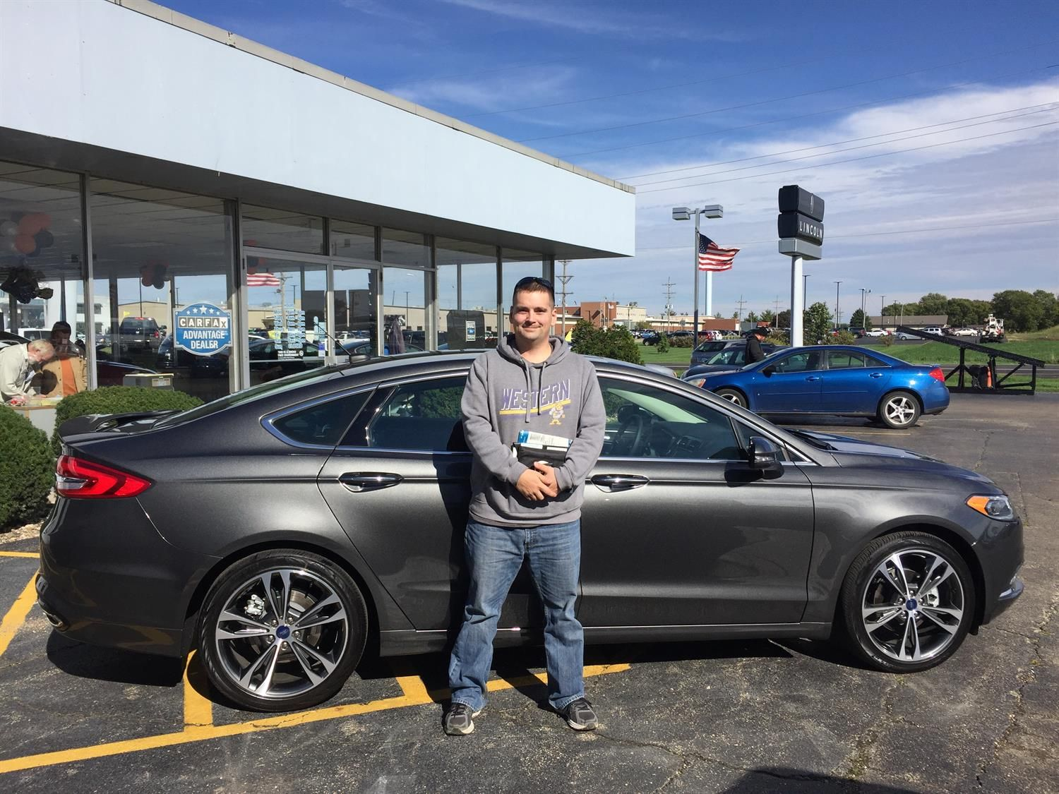 CHRISTOPHER's new 2017 Ford Fusion! Congratulations and best wishes from Kunes Country Ford Lincoln of Sterling and Chris Lansford.