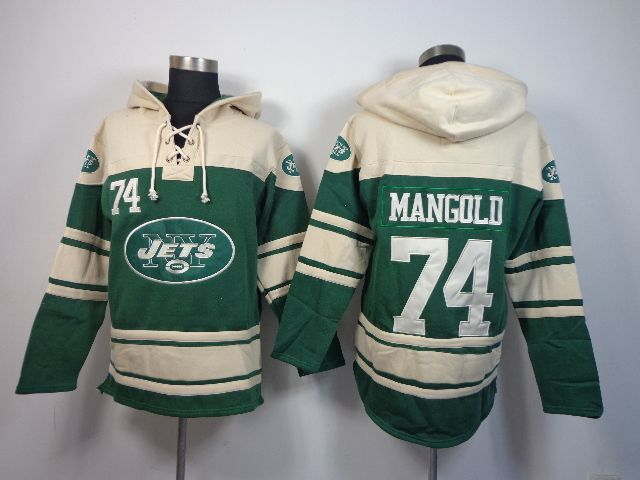 detailed look dc361 22442 Men's NFL New York Jets #74 Nick Mangold Jersey Hooded ...