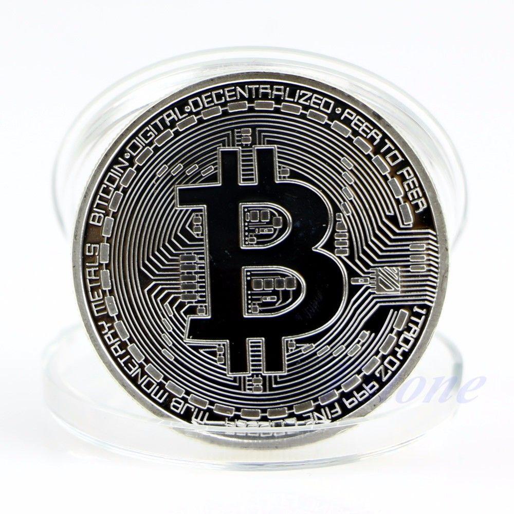 Moneda de colectie BITCOIN - 1 BTC - gold/silver, 75 lei - metin2global.ro
