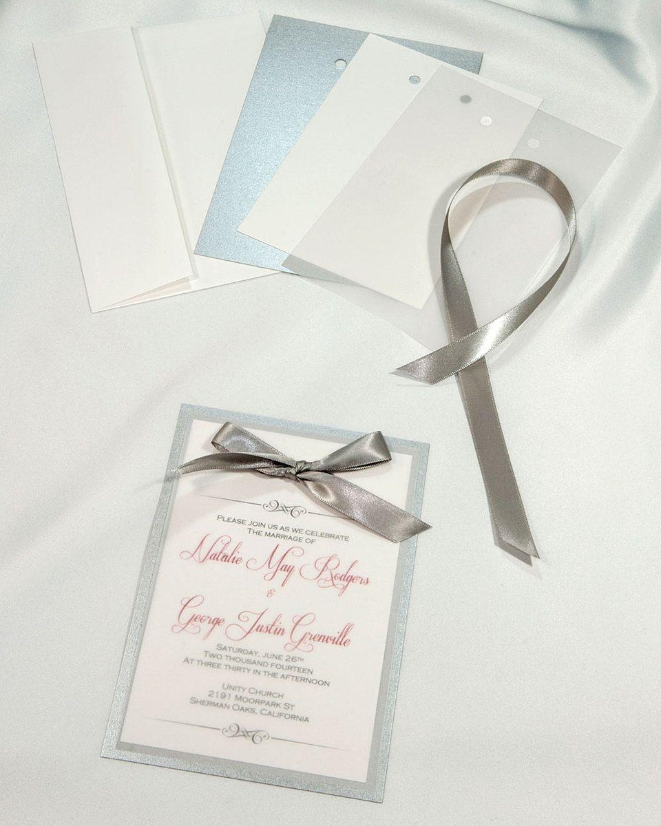 Deep Silver Layered Invitations simple yet elegant Each