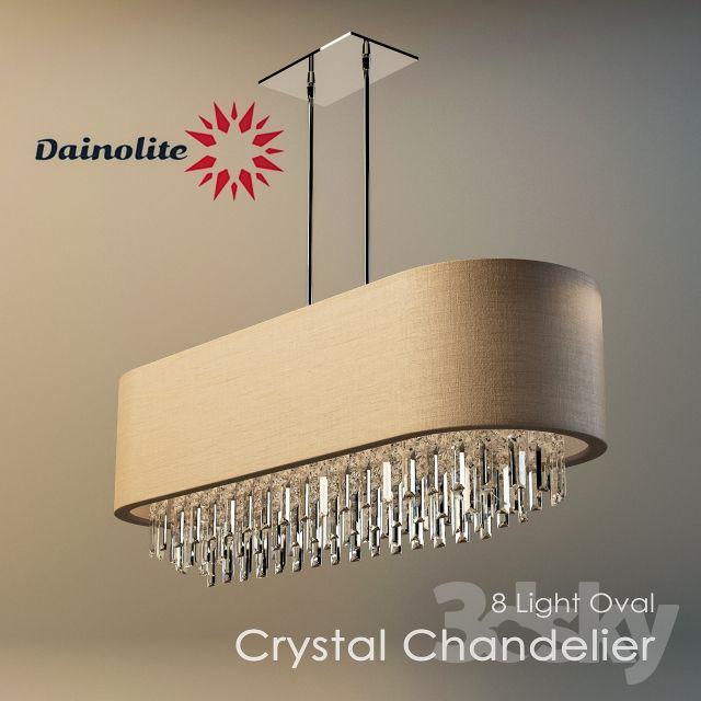 Dainolite 8 Light Oval Crystal Chandelier | 3dsky light ...