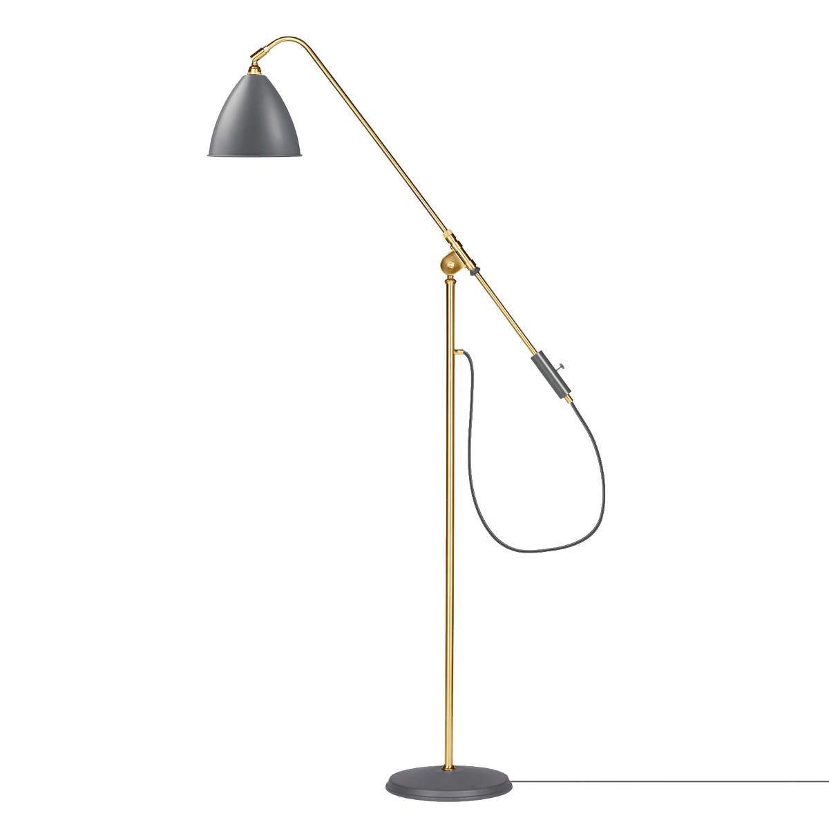 Stehleuchte Retro Orange Stehlampe Brauner Schirm Stehlampe