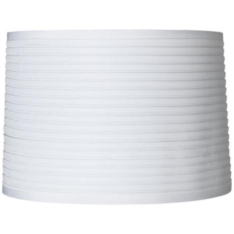 White horizontal pleat lamp shade 15x16x11 spider lampsplus white horizontal pleat lamp shade 15x16x11 spider lampsplus mozeypictures Choice Image