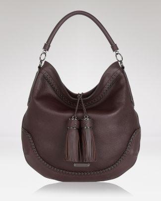 8fe46a9ce90b Burberry Hobo - Tassel Leather - Burberry - Designer Shops - Handbags -  Bloomingdale's