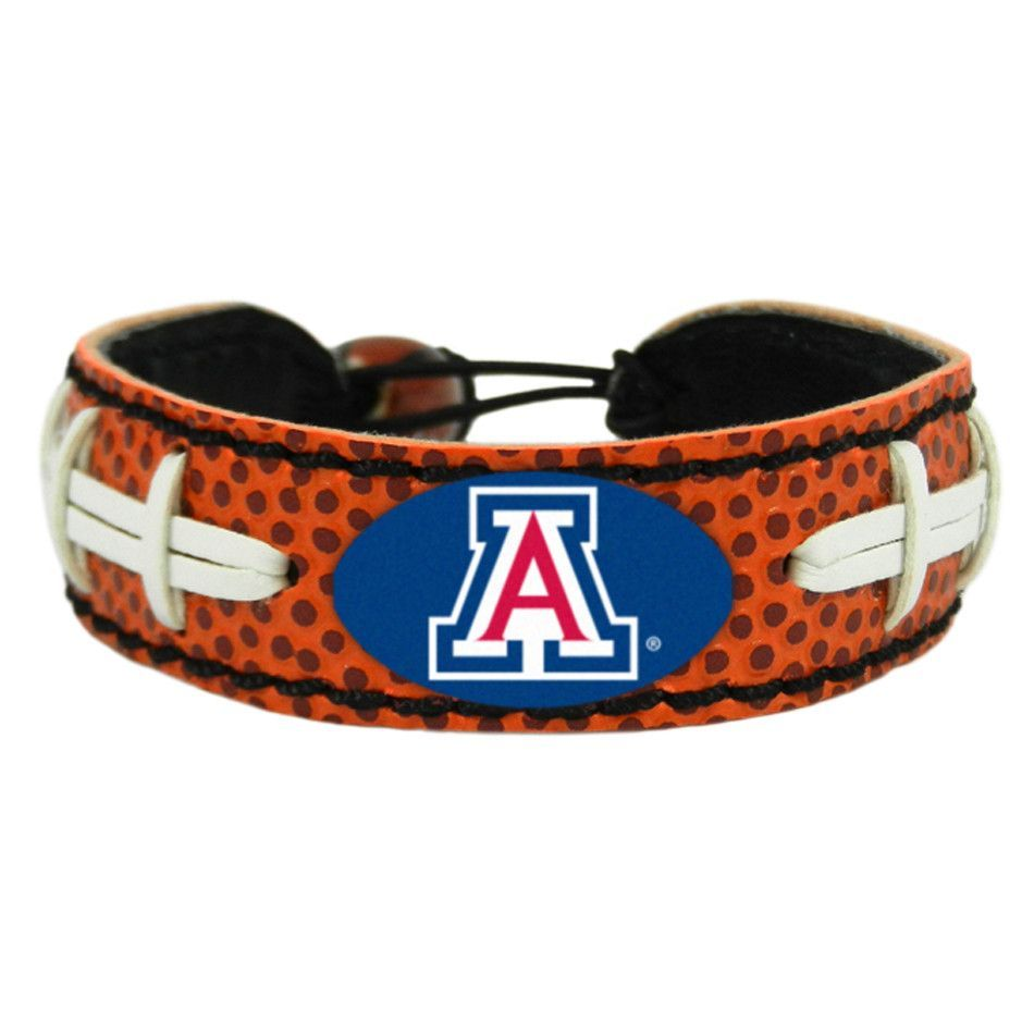 Arizona Wildcats Laced Football Leather Bracelet