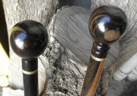 2 Ebony Ball Cane Walking Stick Handles With Threaded Rod Etsy In 2020 Walking Sticks Cane Handles Threaded Rods