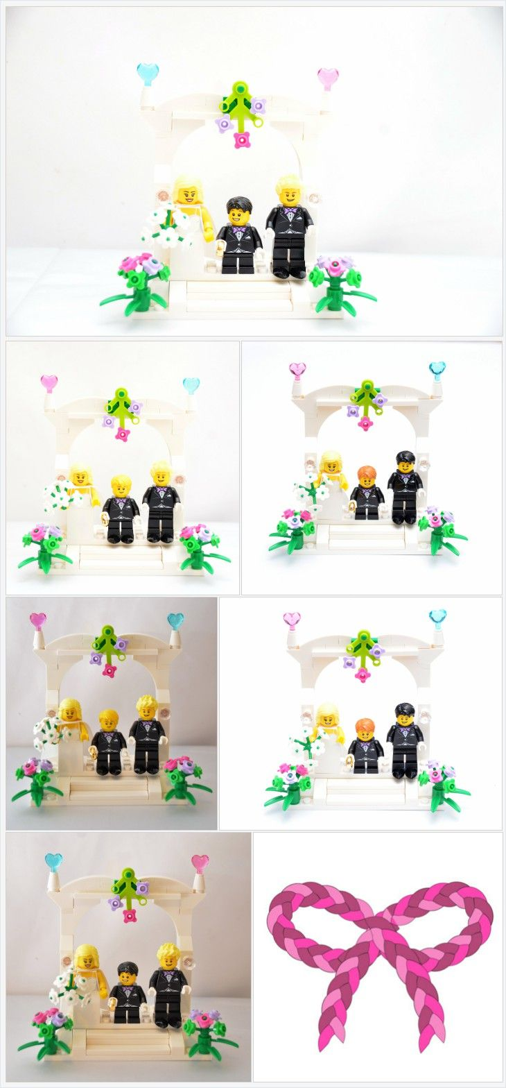 Custom Lego Minifigure Wedding Favors, Bridal Cake Topper or display ...