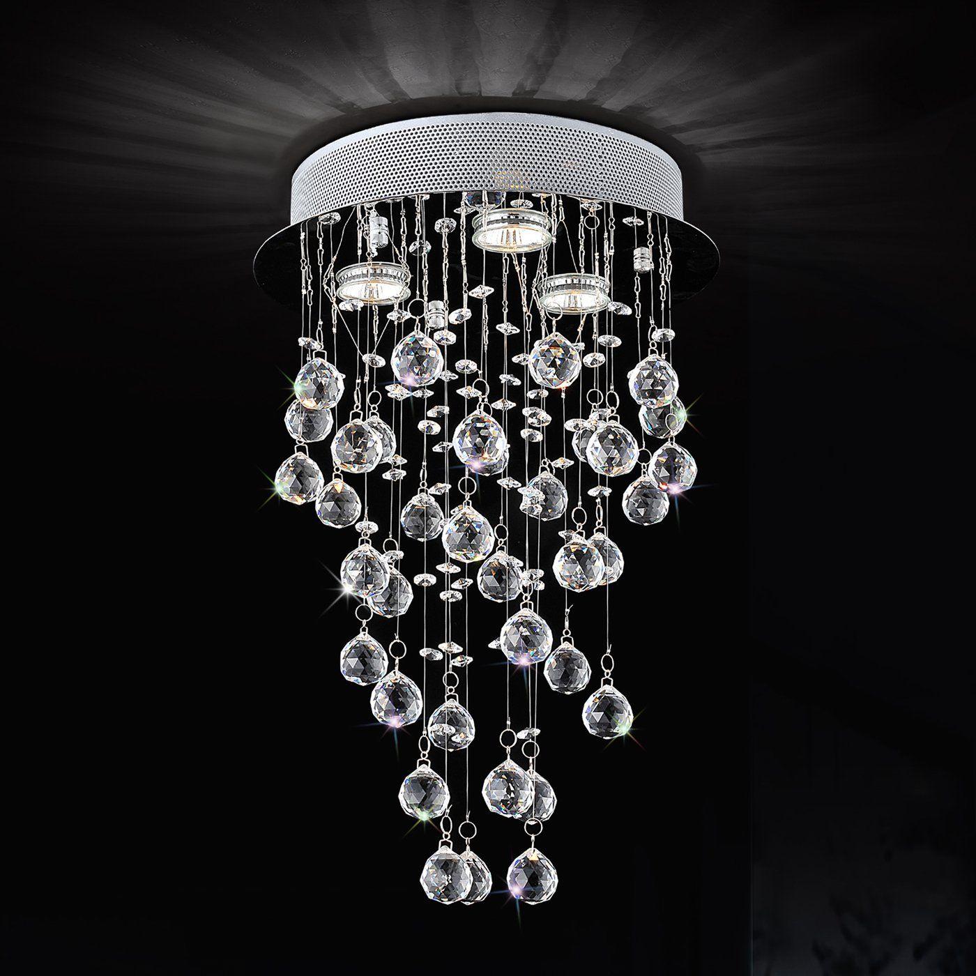 Shop Crystal World Lighting 96840-3 3 Light Rain Drop Large Pendant at Loweu0027s Canada & Shop Crystal World Lighting 96840-3 3 Light Rain Drop Large ... azcodes.com