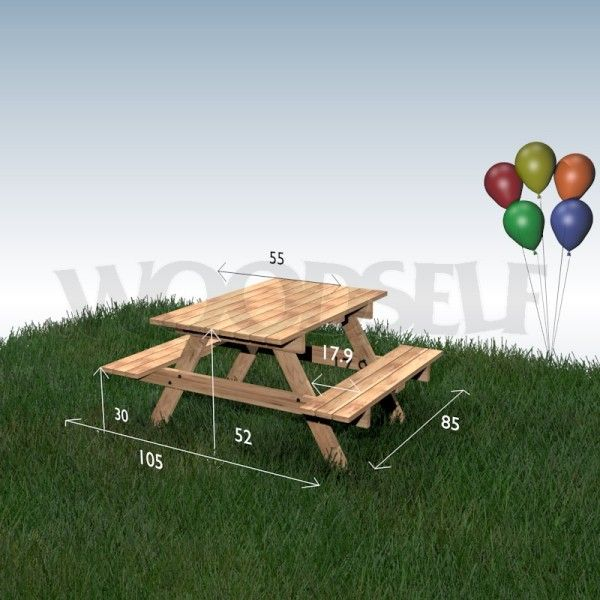 Picnic Table For Children Woodworking Plan Pallet Hout Idees