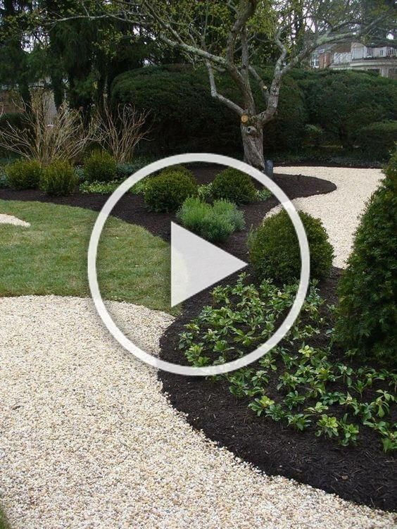 Photo of Landscaping ideas with mulch and rocks: Wooded, tree-filled areas, green grass, …